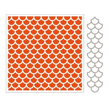 Marianne Design Embossing folders + punch template