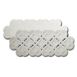 Spellbinders und Rayher Spellbinders, troquelado y estampado en relieve Modelo de la frontera con el corazón Shapeabilities