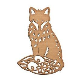 Spellbinders und Rayher Spellbinders, Stamping and Embossing Stencil, Shapeabilitie Inspire fox