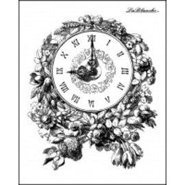 LaBlanche Lablanche Stamp: Romantisk Klokke med blomster