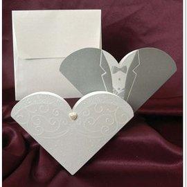 BASTELSETS / CRAFT KITS NIEUW: Exclusieve trouwkaart bruid en bruidegom - LAATSTE SETS!