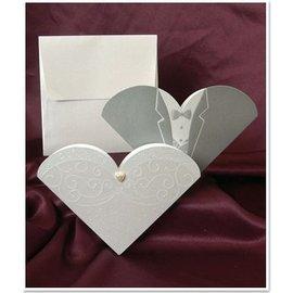 BASTELSETS / CRAFT KITS NYTT: Eksklusivt bryllupskort Brud og brudgom - SISTE SETT!