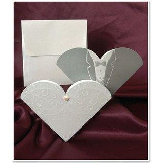BASTELSETS / CRAFT KITS Exclusieve trouwkaarten Bruid en bruidegom - LAATSTE SETS!