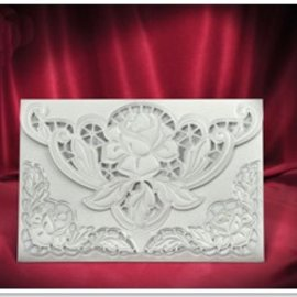 BASTELSETS / CRAFT KITS 3 Tarjeta exclusiva Rose sobres blancos +