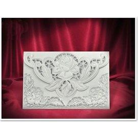 BASTELSETS / CRAFT KITS 3 Exclusieve Rose card witte enveloppen +