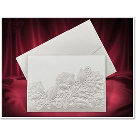 KARTEN und Zubehör / Cards Esclusivo Einsteckkarten fiori bianchi