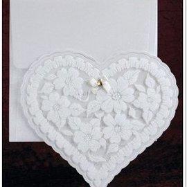 BASTELSETS / CRAFT KITS NOUVEAU: Exclusive cartes cardiaques Edele avec du papier et de paillettes