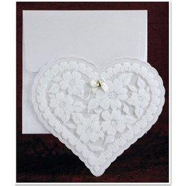 BASTELSETS / CRAFT KITS NUOVO: Esclusiva cuore carte Edele con un foglio e glitter