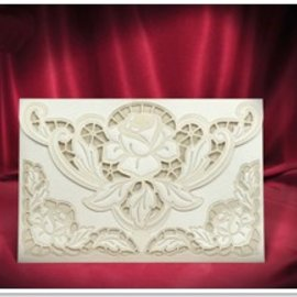 BASTELSETS / CRAFT KITS NEW: Exclusive Edele envelope cream roses cards