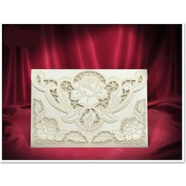 BASTELSETS / CRAFT KITS NEW: Exclusive Edele envelope cream roses cards