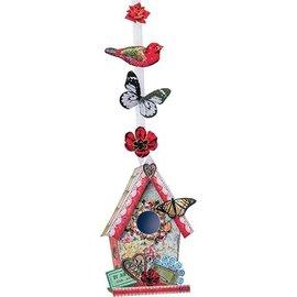 Bilder, 3D Bilder und ausgestanzte Teile usw... Gestantzte A4 3D-blad, vintage vogel huis