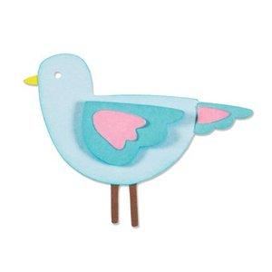 Sizzix Estampage et gaufrage pochoir, ThinLits - Chérie oiseaux