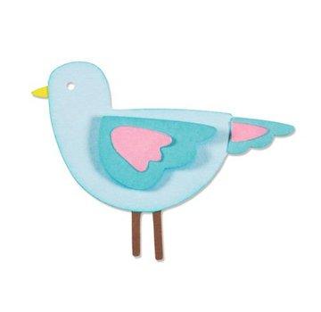Sizzix Stampaggio e goffratura stencil, ThinLits - Sweetie Uccello