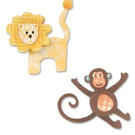 Sizzix Stempelen en embossing stencil, ThinLits, leeuw en aap
