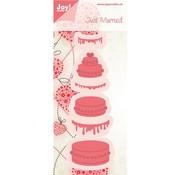 Joy!Crafts / Jeanine´s Art, Hobby Solutions Dies /  Joy Crafts, stansning - og prægning stencil kage - tilbage på lager!