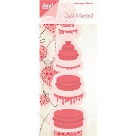 Joy!Crafts / Jeanine´s Art, Hobby Solutions Dies /  Joy Crafts, ponsen - en embossing stencil cake - terug in voorraad!