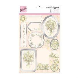Bilder, 3D Bilder und ausgestanzte Teile usw... A4 de luxe de feuilles coupées, rose blanche