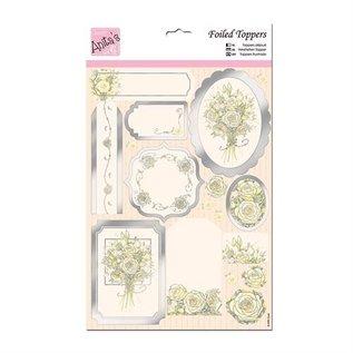 Bilder, 3D Bilder und ausgestanzte Teile usw... Luxus A4 Stanzbogen, weiße Rose