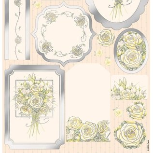 Bilder, 3D Bilder und ausgestanzte Teile usw... Luxe A4 vellen, witte roos