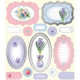 Bilder, 3D Bilder und ausgestanzte Teile usw... Luxus A4 Stanzbogen, Labels und Blumenstrauss