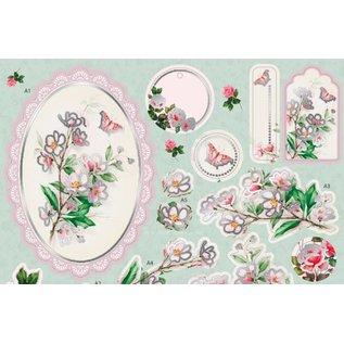 Bilder, 3D Bilder und ausgestanzte Teile usw... Lujo A4 3D mueren hojas sueltas con papel de plata, Rose Bouquet