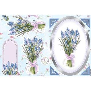 Bilder, 3D Bilder und ausgestanzte Teile usw... Luxury A4 3D die cut sheet with silver foil, Lavender