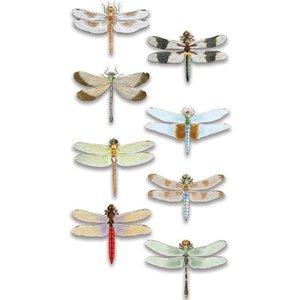 Embellishments / Verzierungen Luxe autocollant 3D libellule, dimensions