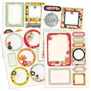 Prima Marketing und Petaloo Prima Marketing, Chipboard Sticker mit Glitter Efekt
