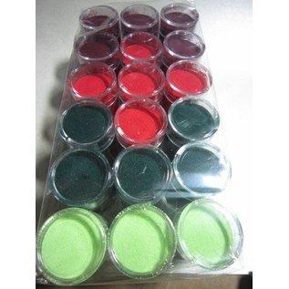 FARBE / STEMPELKISSEN Embossingspulver, 1 krukke 28 ml, udvælgelse af mange farver