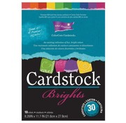 Karten und Scrapbooking Papier, Papier blöcke ColorCore Cardstock, A4, 30 Bögen, Brights