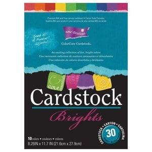 Karten und Scrapbooking Papier, Papier blöcke ColorCore karton, A4, 30 ark, Brights
