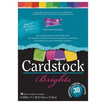 Karten und Scrapbooking Papier, Papier blöcke ColorCore kaarten, A4, 30 vellen, Brights