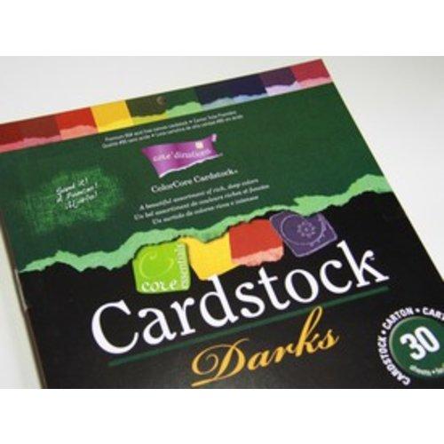 Stempel / Stamp: Transparent ColorCore karton, A4, 30 ark, Darks