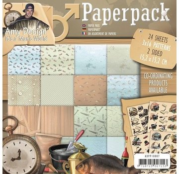 AMY DESIGN AMY DESIGN, Paper Pack Amy design, man's world - terug in voorraad!