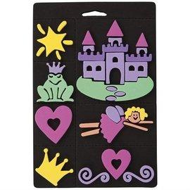 Kinder Bastelsets / Kids Craft Kits Schuimrubber stempel set, prinses, voor kinderen