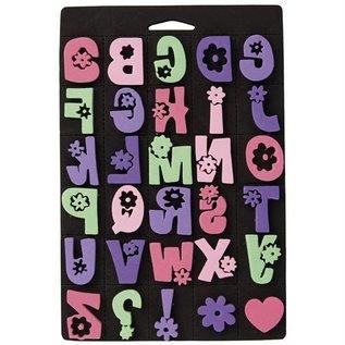 Kinder Bastelsets / Kids Craft Kits Schuimrubber stempel set, Daisy alfabet
