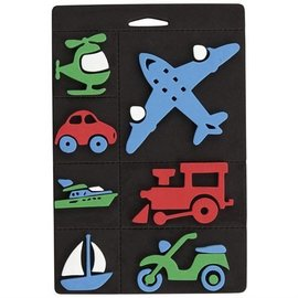 Kinder Bastelsets / Kids Craft Kits Mousse de timbre ensemble, transport, train et avion pour les enfants