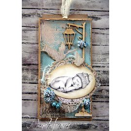 Marianne Design Cutting and embossing stencils, Collectables, Stork with Baby + stamp