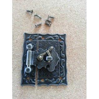 Embellishments / Verzierungen Nostalgische Scrapbook slotje, 1 stuk, 5 x 4,3cm