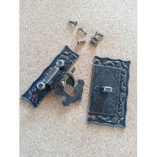 Embellishments / Verzierungen Nostalgic Scrapbook chiusura, 1 pezzo, 5 x 4,3cm