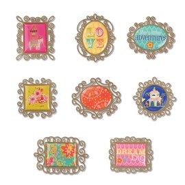 Embellishments / Verzierungen Sizzix, metalli abbellimenti 8 fotogrammi