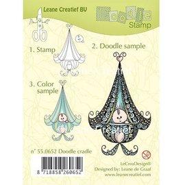 Leane Creatief - Lea'bilities und By Lene Clear stamps, Leane Creative, bébé dans le berceau
