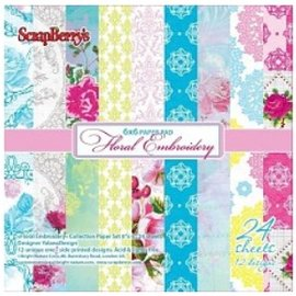 Wild Rose Studio`s Papel Scrapbooking, floral bordado