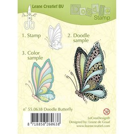 Leane Creatief - Lea'bilities und By Lene Timbri trasparenti, Leane creativo, farfalla