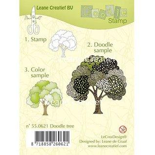 Leane Creatief - Lea'bilities und By Lene Transparent Stempel, doodle Stempel: Baum
