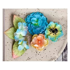 Prima Marketing und Petaloo Prima Flowers, flowers with leaves, 9 piece, 2:54 - 7cm