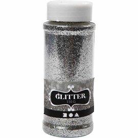 BASTELZUBEHÖR, WERKZEUG UND AUFBEWAHRUNG große glitter Streudose von 110gr, silber