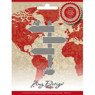 AMY DESIGN AMY DESIGN, Stanz- und Prägeschablonen, Amy Design Maps, Wegweiser