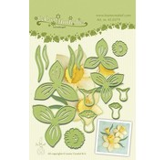 Leane Creatief - Lea'bilities und By Lene Leabilities, stamping - and embossing stencil, Daffodil