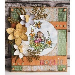 Leane Creatief - Lea'bilities und By Lene Leabilities, stampen - en embossing stencil, Daffodil